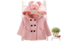 Áo dạ bé gái màu hồng