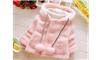 Áo choàng lông màu hồng cho bé