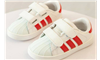 Giày thể thao cho bé màu trắng đỏ